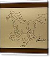 A Dancing Horse Canvas Print