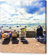 A day at the seafront Canvas Print