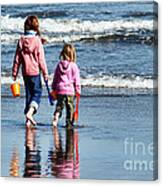 A Day At The Seaside  Canvas Print
