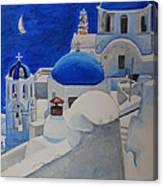 A Day In Santorini Canvas Print