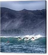 A Day In The Surf V3 Canvas Print