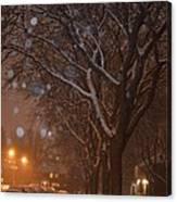 A December Night Canvas Print