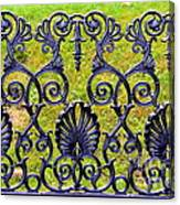 A Decorative Iron Seat Canvas Print