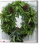 A Different Christmas Wreath Canvas Print