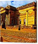 A Digitally Converted Painting Of The Walker Art Gallery In Liverpool Uk Canvas Print