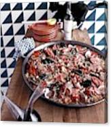 A Dish Of Paella Canvas Print