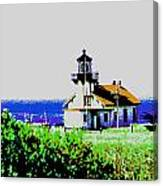 A Distant Light House Canvas Print