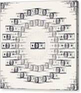 A Dizzying Amount Of Money Canvas Print