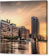 A Docklands Sunset Canvas Print
