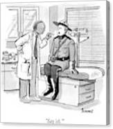 A Doctor Inspects A Royal Canadian Mounted Canvas Print