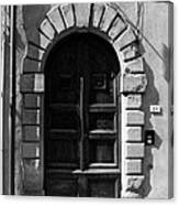 A Door In Tuscany Bw Canvas Print