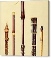 A Double Flageolet, A German Flute Canvas Print