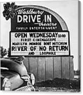 A Drive-in Theater Marquee Canvas Print