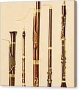 A Dulcian, An Oboe, A Bassoon Canvas Print