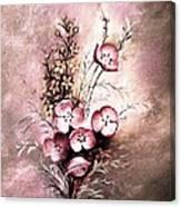 A Dusty Rose Bouquet Canvas Print