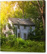 A Fading Memory One Summer Morning - Abandoned House In The Woods Canvas Print
