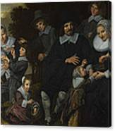 A Family Group In A Landscape Canvas Print