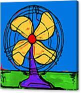A Fan Of Color Canvas Print