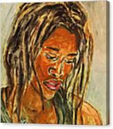 A Female Sax Player Canvas Print
