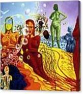 A Feminine Day In A Masculine Dreamer's Night Canvas Print