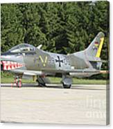 A Fiat G-91 Fighter Plane Of The German Canvas Print