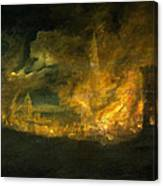A Fire In The City Canvas Print