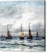 A Fishing Fleet Canvas Print