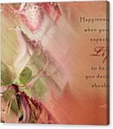 A Fleur De Peau - Happiness Quote 03 Canvas Print