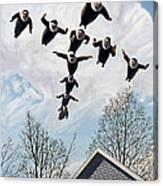 A Flock Of Flying Nuns Canvas Print