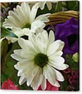 A Flower Basket Canvas Print
