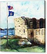 A Fort In Maine Canvas Print