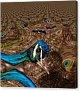 A Fractual Peacock  Canvas Print