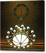 A Franklin Chandelier Canvas Print