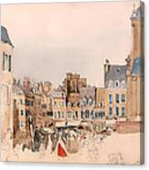 A French Market Place Canvas Print
