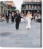 A French Quarter Wedding Canvas Print