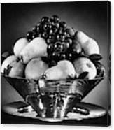 A Fruit Bowl Canvas Print