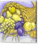 A Fruitful Horn Of Plenty Canvas Print