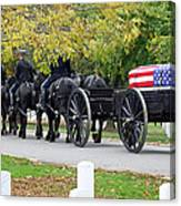 A Funeral In Arlington Canvas Print