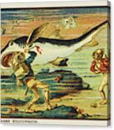 A Futuristic Shark Hunt On The Seabed Canvas Print
