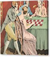 A Gambling Hell Canvas Print