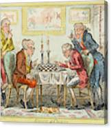 A Game Of Chess -  Two Wigged Gentlemen Canvas Print
