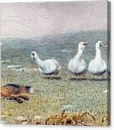 A Game Of Fox And Geese, 1868 Canvas Print