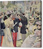 A Garden Party At The Elysee Canvas Print
