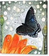 A Garden Visitor Canvas Print