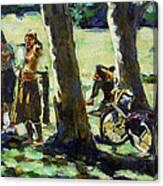 A Gathering Canvas Print