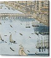 A General View Of The City Of London And The River Thames Canvas Print