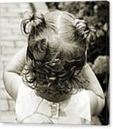 A Girl And Her Curls Canvas Print