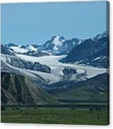 A Glacier Receding Canvas Print