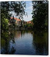 A Glimpse Through The Trees - Bruges Belgium Canvas Print