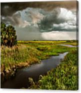 A Glow On The Marsh Canvas Print